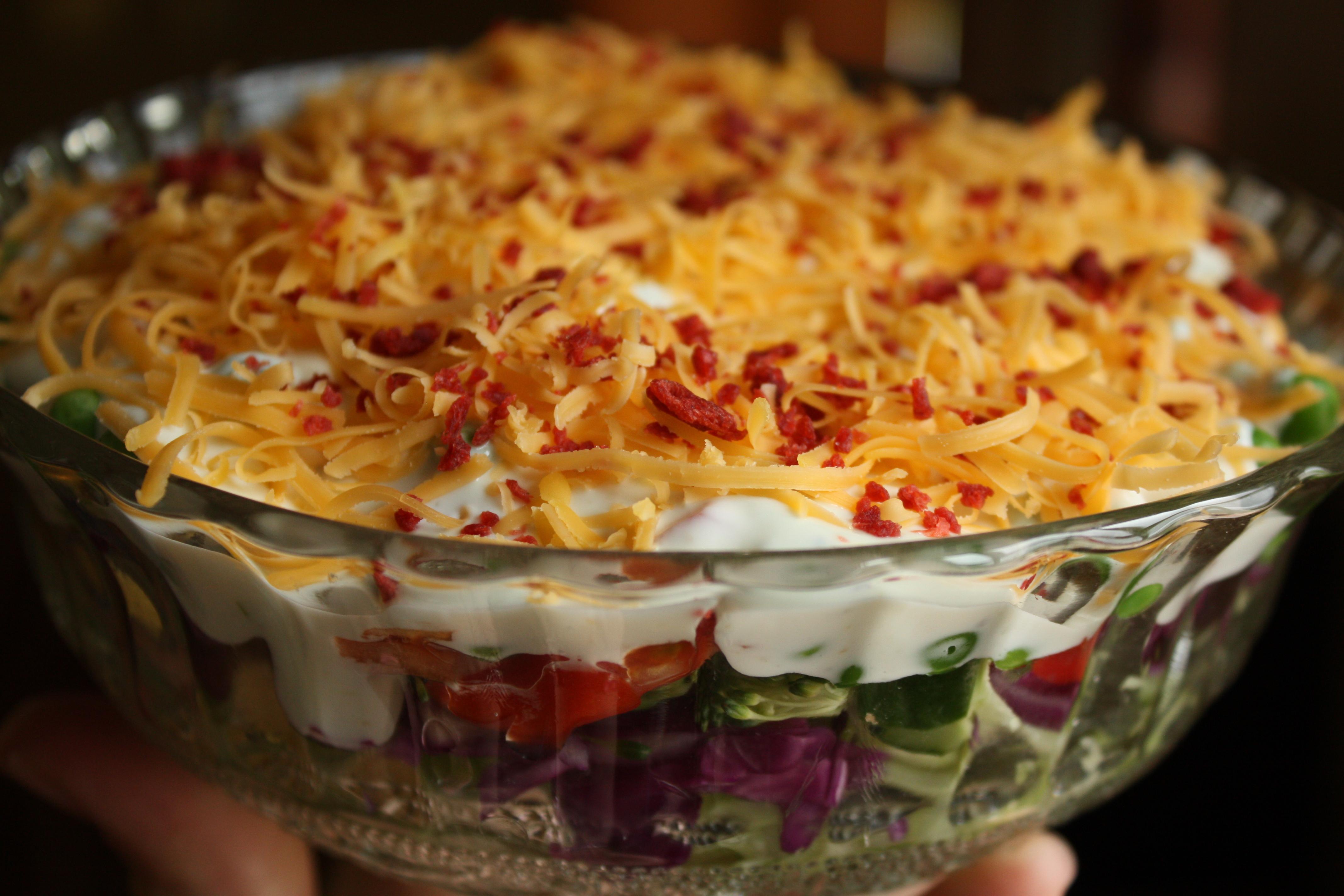 Рецепты салатов слоеные рецепт